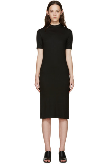 Nomia - Black Ribbed Jersey Dress
