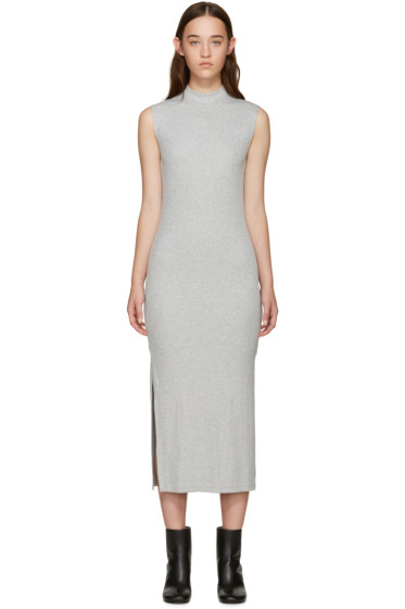 Nomia - Grey Ribbed Jersey Dress