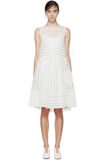 Erdem - White Seersucker Maddox Dress