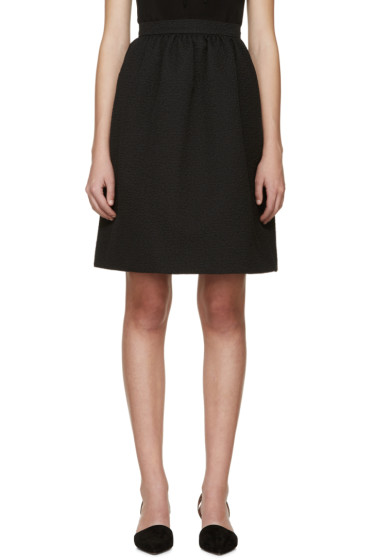 Erdem - Black Jacquard Kitty Skirt