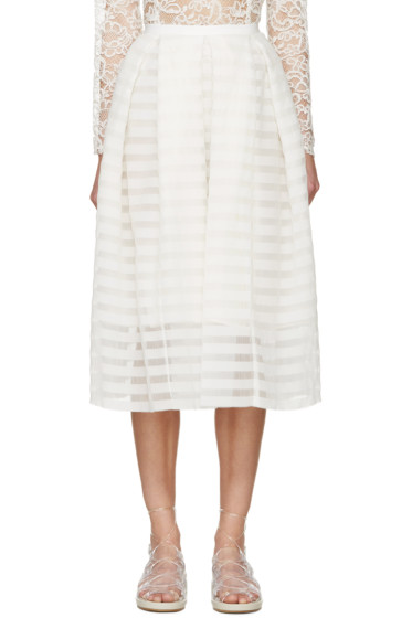Erdem - White Seersucker Ina Skirt