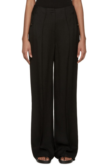 Esteban Cortazar - Black Crepe Sable Trousers