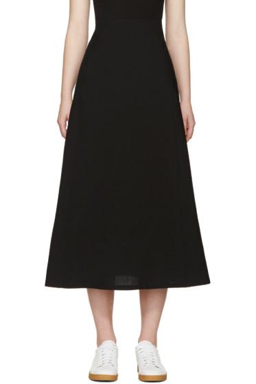 Lemaire - Black Wool Skirt