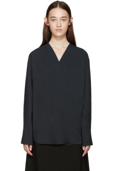 Lemaire - Navy Wrap Panama Shirt