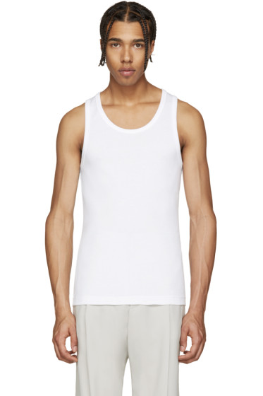 Lemaire - White Cotton Tank Top