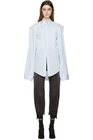 Vetements - Blue Oversized 'V' Shirt