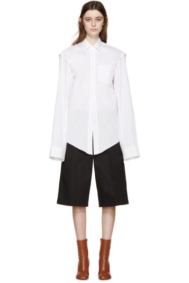 Vetements - White Oversized 'V' Shirt