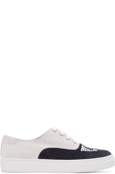 Toga Virilis - Grey & Black Suede Sneakers