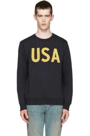 Palm Angels - Navy 'USA' Pullover