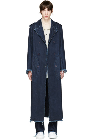 Marques Almeida - Indigo Denim Coat