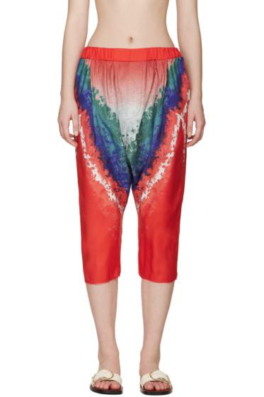 Baja East - Muticolor Tie-Dye Trousers