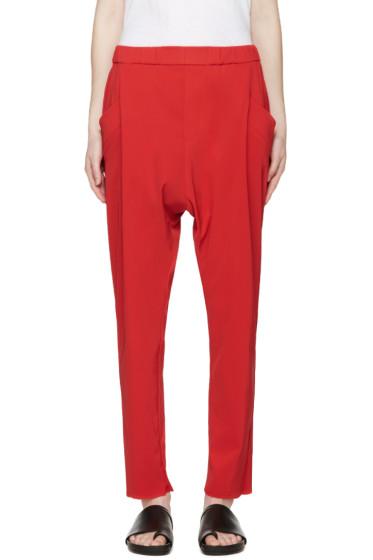 Baja East - Red Crepe Lounge Pants