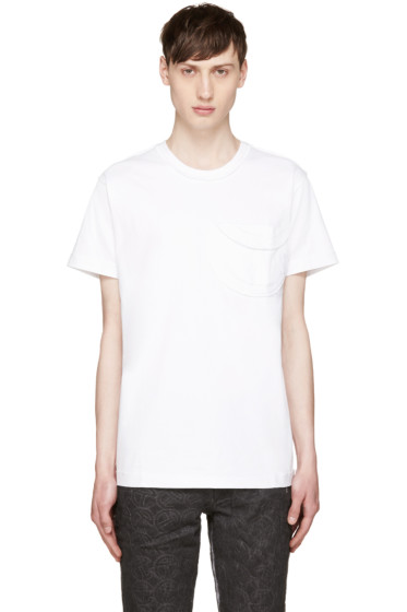 Telfar - White Logo Pocket T-Shirt