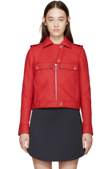 Courrèges - Red Faux-Leather Jacket