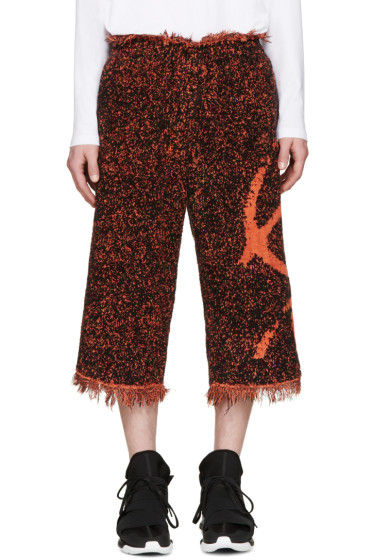 Haal - Black & Orange Rita Towelling Shorts