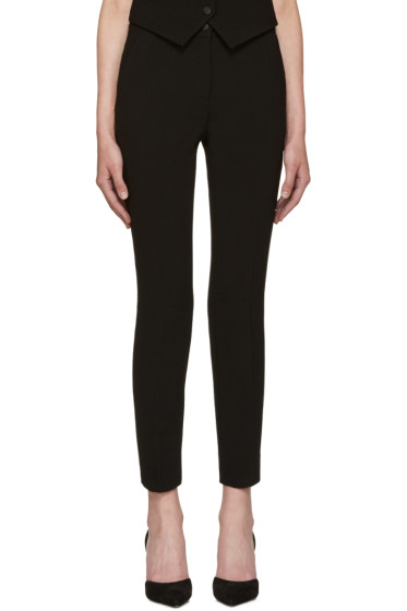 Dolce & Gabbana - Black Wool Crepe Trousers