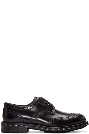 Dolce & Gabbana - Black Studded Derbys