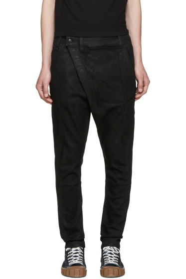 R13 - Black X-Over Jeans