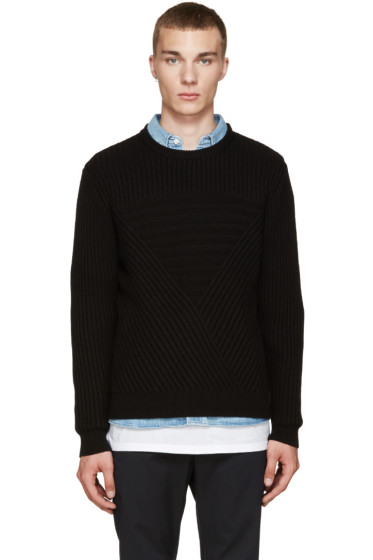 Public School - Black Moving Triangle Sweater