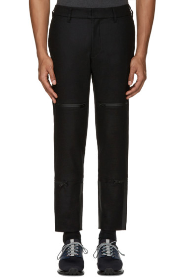 Y-3 - Black Wool Track Trousers
