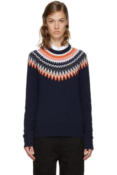 YMC - Navy & Orange Fairisle Sweater