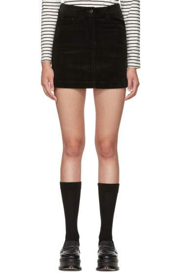 YMC - Black Corduroy Miniskirt