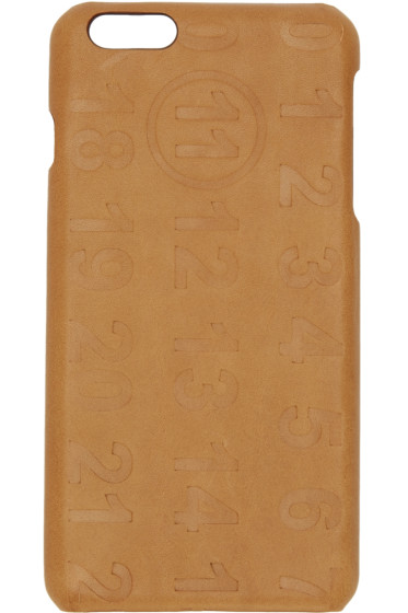 Maison Margiela - Tan Leather Logo iPhone 6 Plus Case