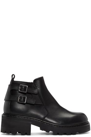 Maison Margiela - Black Short Zip Boots