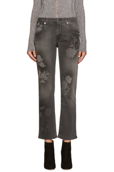 Christopher Kane - Grey Spray Paint Jeans