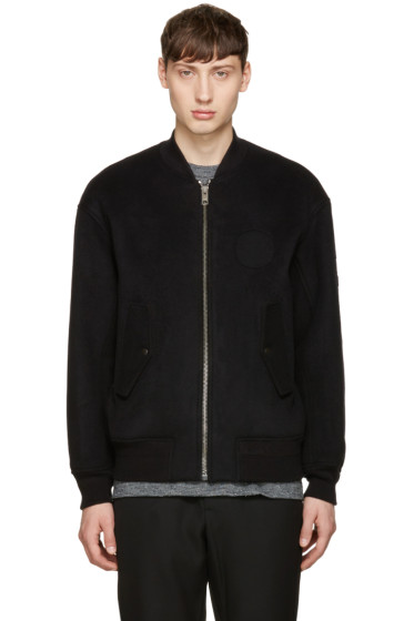 Alexander Wang - Black Patches Bomber Jacket