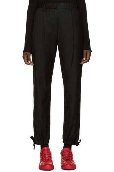 MM6 Maison Margiela - Black Wool Knots Trousers