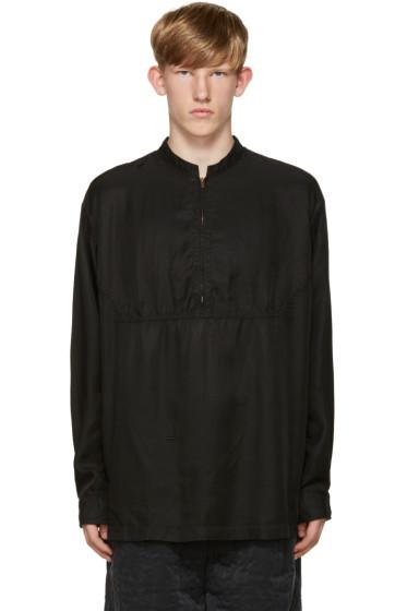Robert Geller - Black Zip Shirt