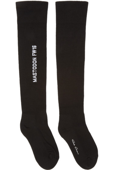 Rick Owens - Black Mastodon Over-the-Knee Socks
