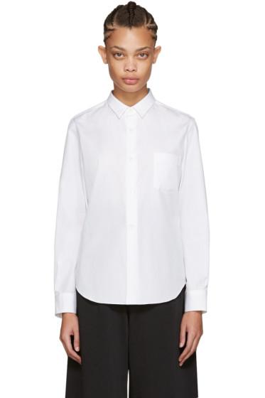 Comme des Garçons - White Poplin Shirt