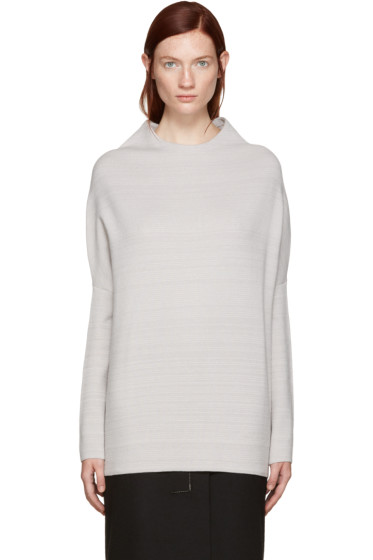 Jil Sander - Beige Dropped Shoulder Sweater