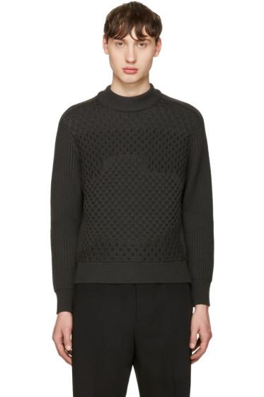 Jil Sander - Grey Waffle Knit Sweater