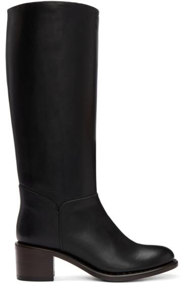 A.P.C. - Black Tall Iris Boots