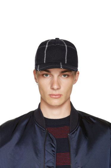 A.P.C. - Navy Wool Check Cap