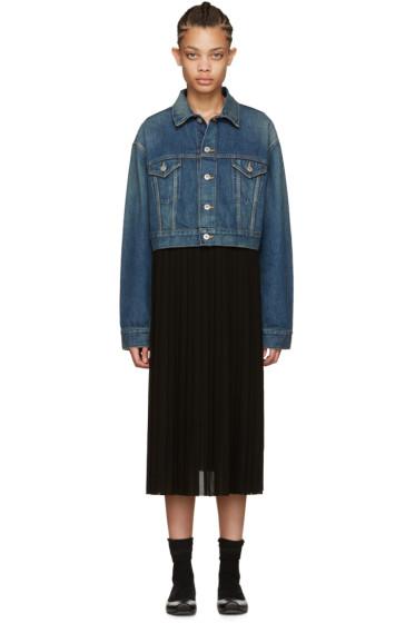 Junya Watanabe - Indigo Denim Contrast Dress