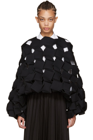Junya Watanabe - Black Cubic Sculptural Top