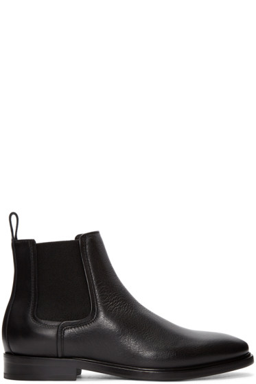 Lanvin - Black Leather Chelsea Boots