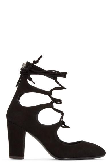 Giuseppe Zanotti - Black Suede Bebe Heels