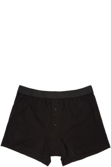 Comme des Garçons Shirt - Black Button-Fly Boxer Briefs