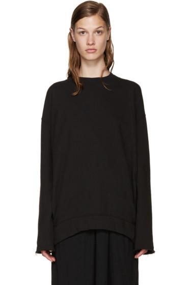 Raquel Allegra - Black Pocket Pullover