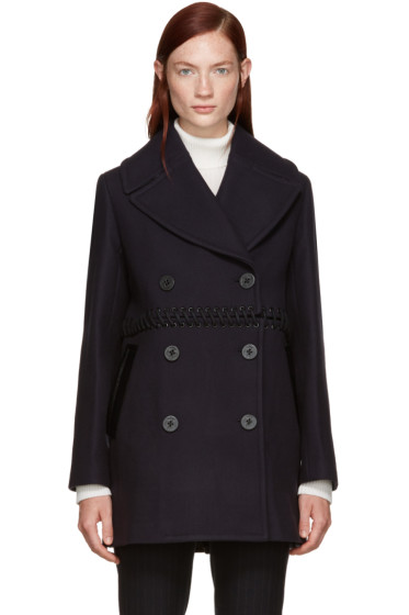 3.1 Phillip Lim - Navy Wool Laced Coat