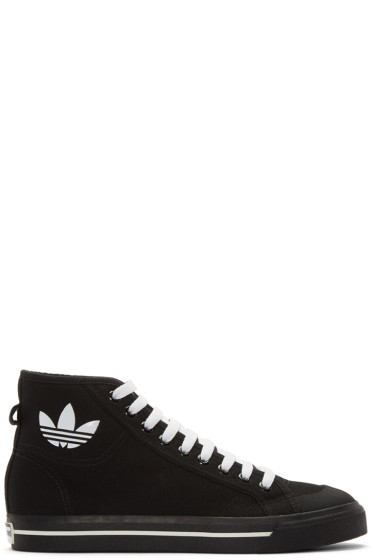Raf Simons - Black adidas Edition Matrix Spirit High-Top Sneakers