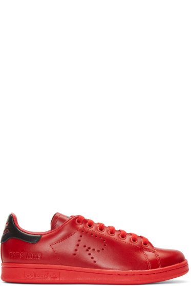 Raf Simons - Red adidas Edition Stan Smith Sneakers