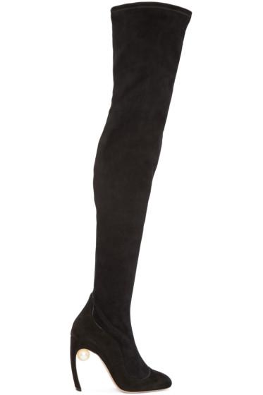 Nicholas Kirkwood - Black Suede Over-The-Knee Boots