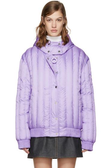 Carven - Purple Crystal Hooded Jacket