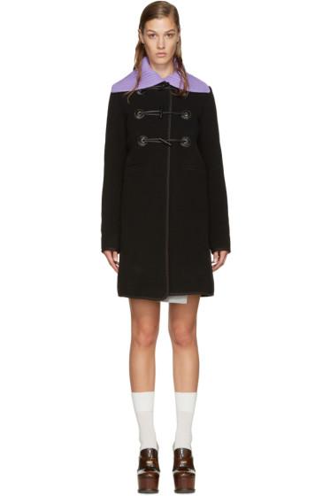 Carven - Black Wool Toggle Coat